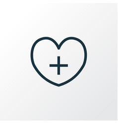 Heart outline symbol premium quality isolated vector