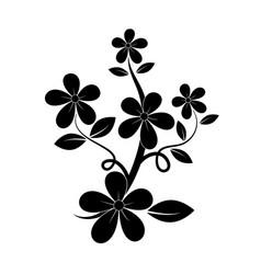 Black silhouette of flower vector