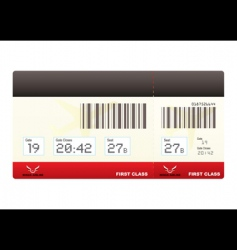 Plane tickets first class swipe vector
