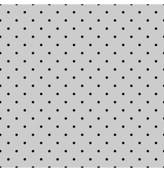 Tile black polka dots on grey background vector