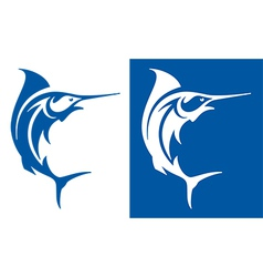 Marlin fish symbol vector