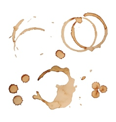 Coffee stain rings set isolated on white vector