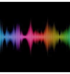 Rainbow sound equalizer colorful musical bar on vector