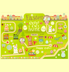 36 easter map vector