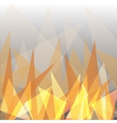 Abstract flame triangle geometric design vector