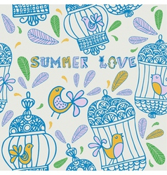 Summer floral love Background vector image
