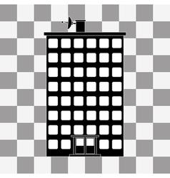 Black building icon vector