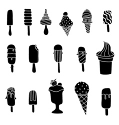 Ice cream set isolated on white vector