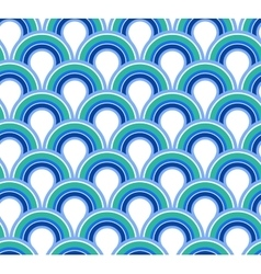 Blue wave abstract seamless background vector image vector image