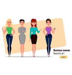 character beautiful business woman 005 vector image vector image