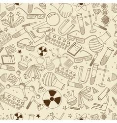 Chemistry cseamless retro vector image