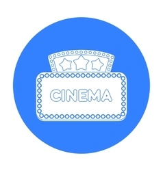Cinema signboard icon in black style isolated on vector image vector image