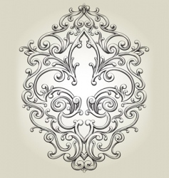 fancy fleur de lies frame vector image vector image