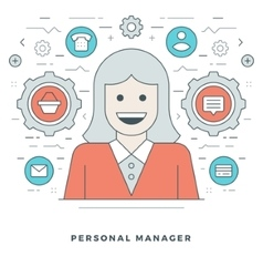 Flat line personal manager and support vector