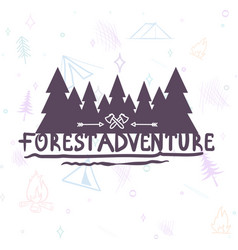 Hand drawn modern brush lettering of adventure vector