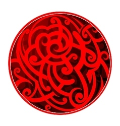Maori style circle tattoo vector