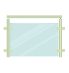 Metal fence icon cartoon style vector