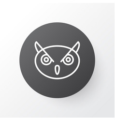 owl icon symbol premium quality isolated night vector image