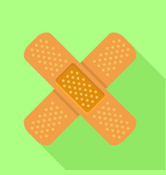 patch icon flat style vector image vector image