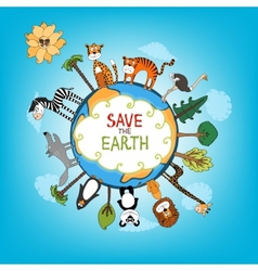 Save The Earth concept vector image vector image