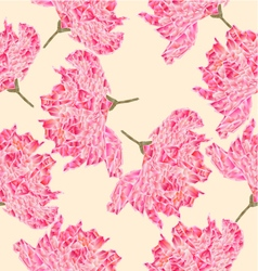 Seamless texture Sakura blossom polygons vector image