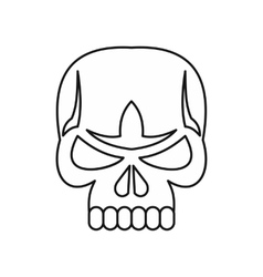 Skull icon outline style vector