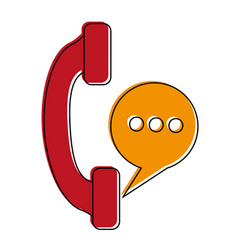 telephone landline icon imag vector image