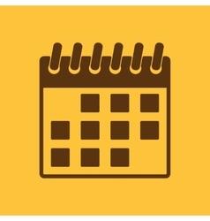 The calendar icon Calendar symbol vector image