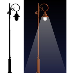 The old lamp vector image vector image