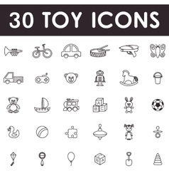 Toys icon set vector image