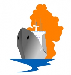Travel ship vector