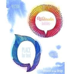 watercolor ink bubbles2 vector image