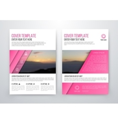 Brochure design template flyer vector