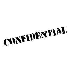 Confidential stamp rubber grunge vector image