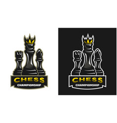 King bishop castle chess game championship vector