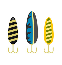 fishing lure icon flat style vector image