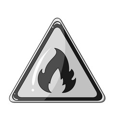Sign of flammabilityoil single icon in monochrome vector