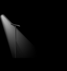 Silhouette microphone vector