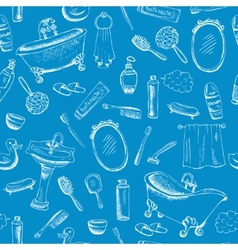 Bathroom themed design on blue background vector