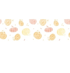 Thanksgiving pumpkins textile horizontal border vector