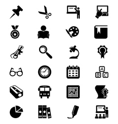 School and education icons 2 vector