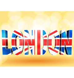 3d london union jack vector image