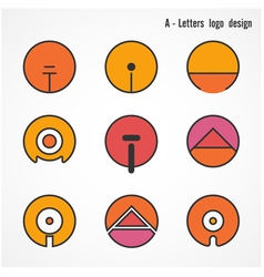 Creative a letters icon abstract logo design vector