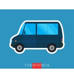 Mini bus isolated vector