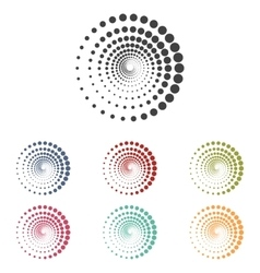 Abstract technology circles set vector