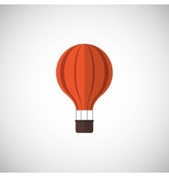 Hot air balloon icon design vector