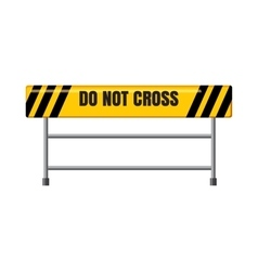 Do not cross traffic barrier icon cartoon style vector