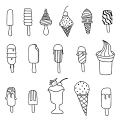 Icecream icons set vector