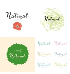 Hand drawn posters and stickers with eco quote vector