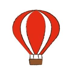 Airballoon recreation vacation travel color sketch vector